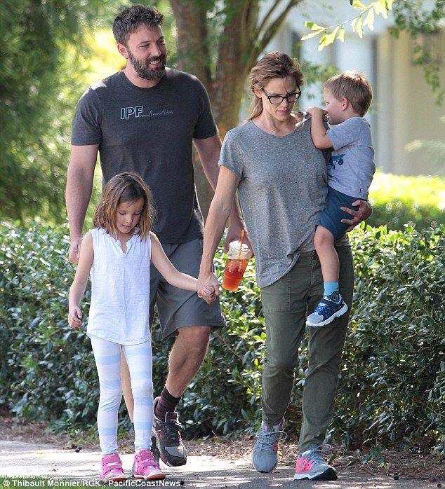 Together again: Ben Affleck and Jennifer Garner are continuing to spend time together, which they did again on Friday as they took a walk in Atlanta, Georgia, with their children