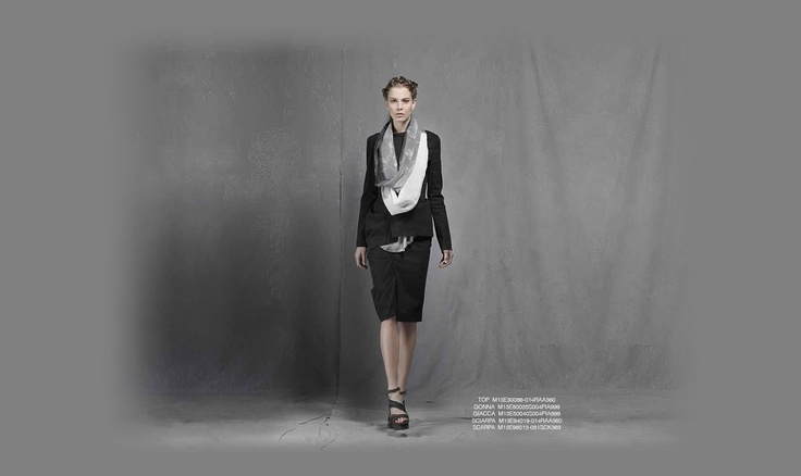 Malloni Black Collection S13 #skirt  #shoes #scarf #sciarpa #gonna #scarpe #giacca #coat