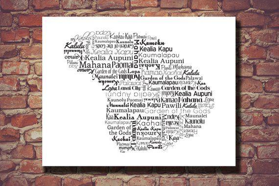 Lanai Art Lanai Printable Lanai Map Lanai Lanai Wedding Etsy State Prints Typography Prints Travel Prints