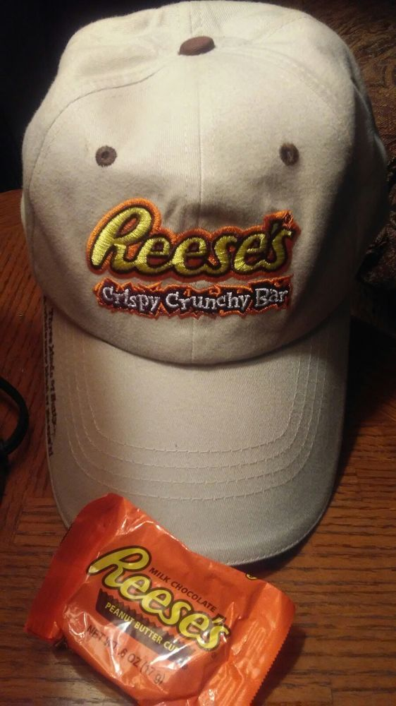 2ef2e735be4ef Reeses Cap Chocolate Crispy Crunchy Bar Candy Collectible Baseball Hat   Reeses  BaseballCap