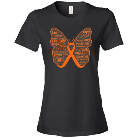 Leukemia Inspirational words on a butterfly ribbon design for shirts, apparel and gifts with words of hope, faith, courage, love, resilient, fight, support and awareness Ideal for the Leukemia survivor, warrior and advocates. Wear it for Leukemia awareness events or anytime to support awareness for Leukemia brought to you by  LeukemiaShirts.Com   NOTE: To contact the designer of the Leukemia ribbons, request a custom or personalized ...