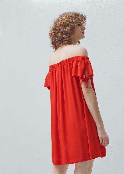 Off the shoulder dress | MANGO
