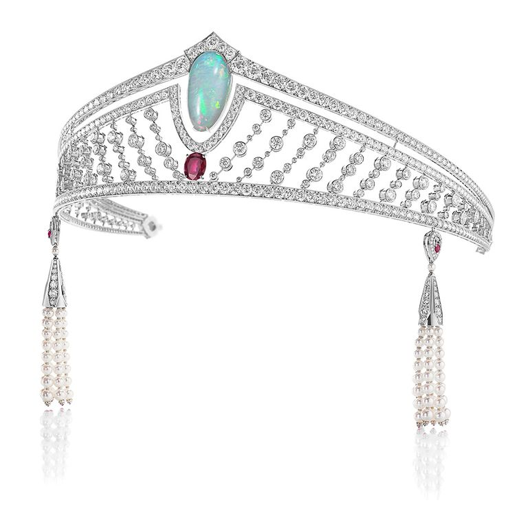 Chaumet - XXVIth Biennale des Antiquaires Collection - Opal & Ruby Tiara