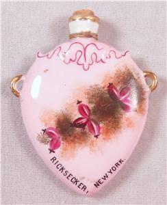 Vintage Porcelain Hand Painted Perfume Bottle Ricksecker New York