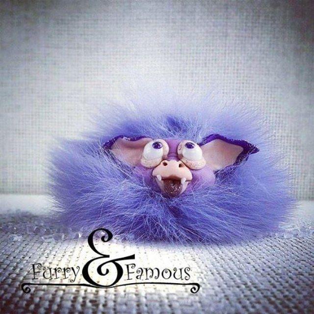 #летучаямышь #bat #violet #clay #polymerclay #miniature #arts #sculpture #furry_and_famous #fur #handmade #doll