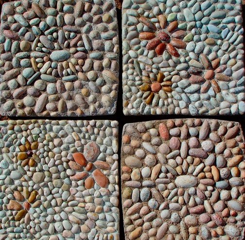 More pattern ideas for pebble mosaics