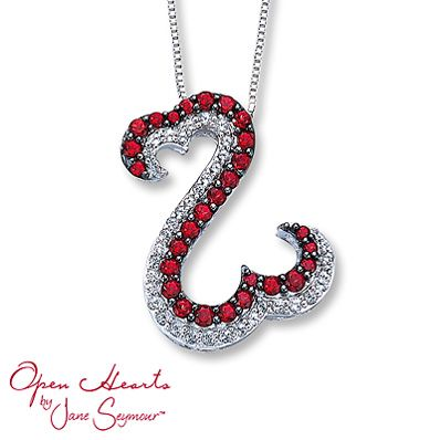 All you need is the blue! This red and white crystal Open Hearts necklace is the perfect accessory for your 4th of July fun!