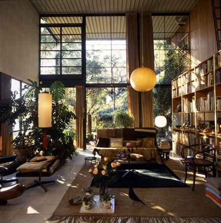 """As a fan, my favorite piece by Charles and Ray is their home and studio, the Eames House. According to """"Charles & Ray Eames: The Architect & The Painter,"""" the house was always in flux. Changing to suit the whims and needs of each day. I am powerfully inspired by that idea of a home as a work of art. Portrait of the Eameses drawn by Rama Hughes."""