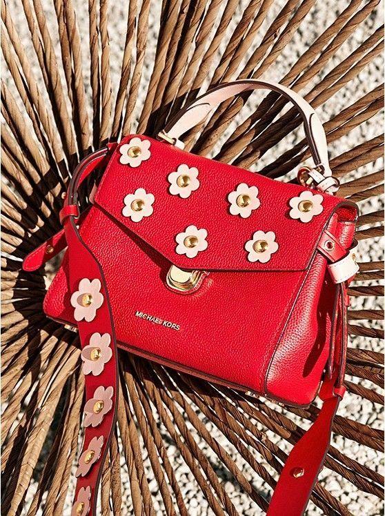 2468ffda8fd825 Bristol Floral Appliqué Leather Crossbody #Handbagsmichaelkors ...