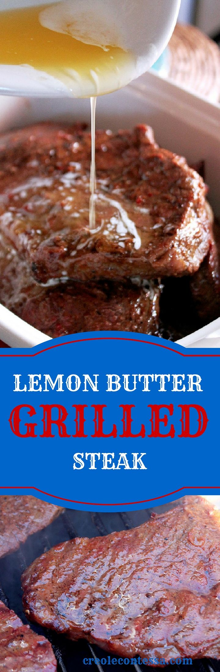 Lemon Butter Grilled Steaks