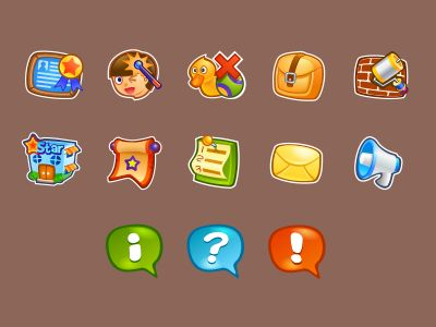 Cute icons for kids