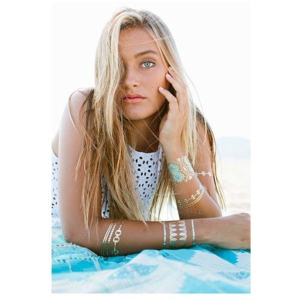 Blue Lagoon Tattoos (€26) ❤ liked on Polyvore featuring accessories, body art and swimwear