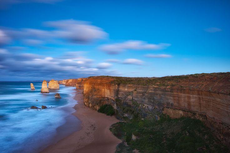 Blue Surrender. - 12 Apostles, Great Ocean Road.  Best viewed large on black.  Darren J.