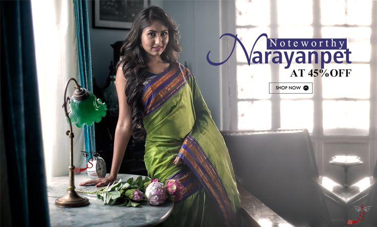 Wait is over: #NarayanpetSilkSarees have arrived at 45% discount!