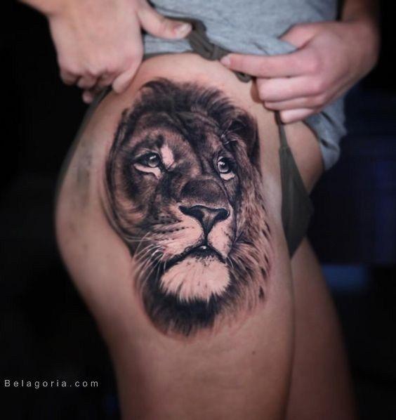 75 Tatuajes De Leones Para Mujer 2018 Brillantes Ideas De