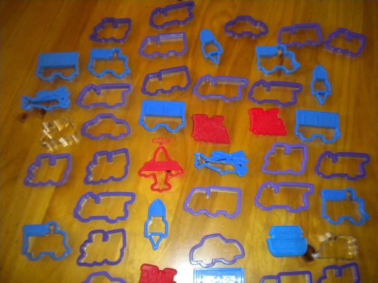 Huge Lot of 40+ Cookie Cutters Cars, Helicopters, Trains, Truck Plastic Metal #Unbranded