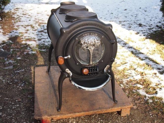 Vermont Iron Stove The Elm Houtkachel Met Twee Kookplaten