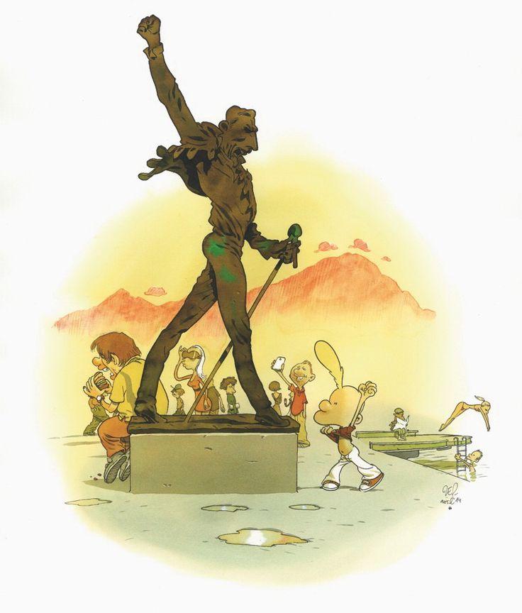 """Zep, Freddie, série limitée à 5 ex, 2014 Série réalisée en exclusivité pour Janus Gallery dans le cadre de l'exposition """"Zep à Montreux"""". Tirage Laurent Cochet."""