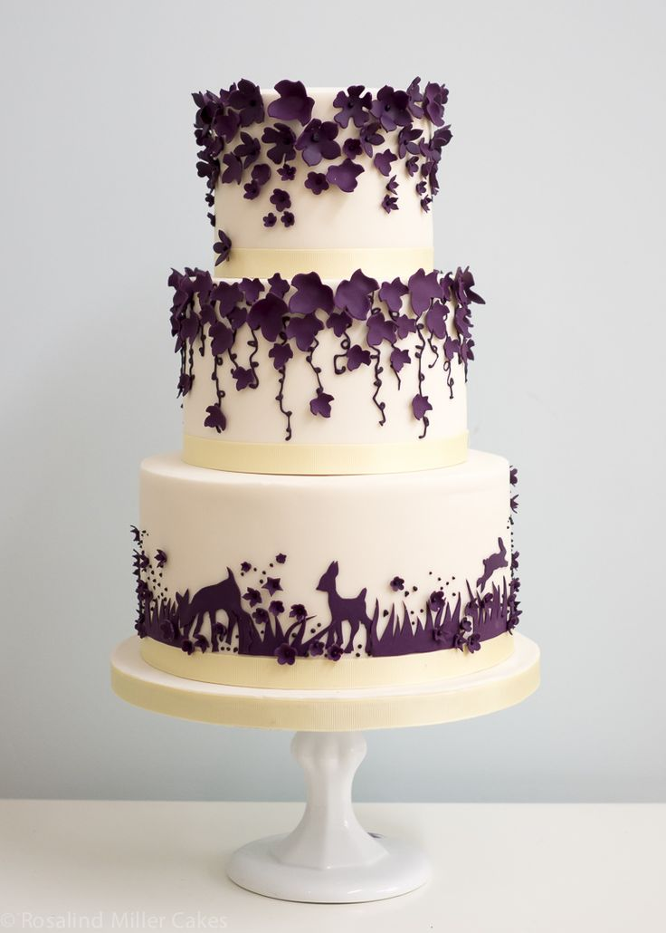 white forest wedding cake 1000 ideas about purple wedding cakes on 27284