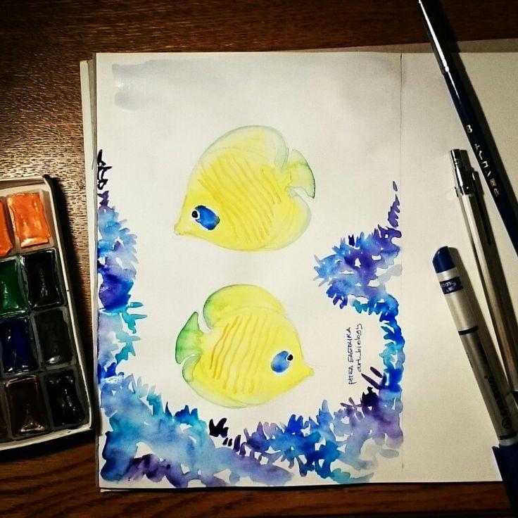 Рыба_бабочка, art, grafics, design, illustration