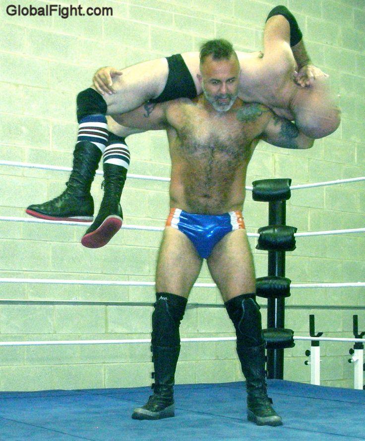 very hairy men wrestling