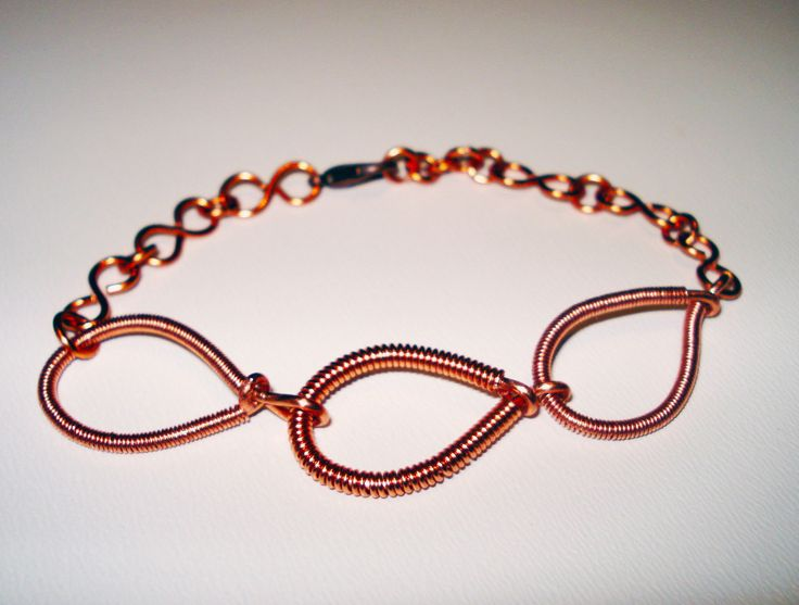 Copper Wire Bracelet by IALINA