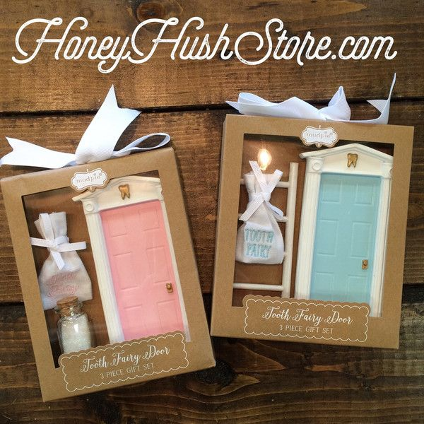 Mudpie tooth fairy set for girl or boy the boy comes with for The magic fairy door