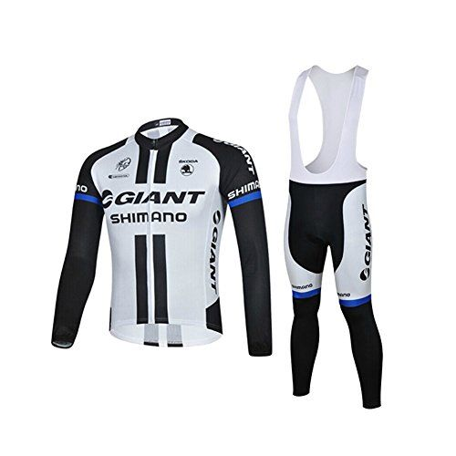 Men's Cycling Bib Shorts - HTTP Mens 2015 Giant Shimano MTB Road Breathable Cycling Long Sleeve Jersey and Bib Pants Suit Size 2XL * Learn more by visiting the image link.