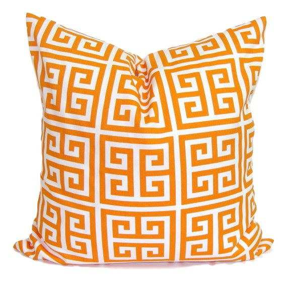 ORANGE Pillows Orange Pillow Cover Decorative Pillow Orange