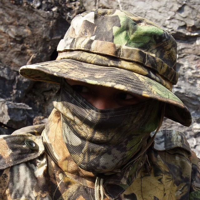 d3b1191999b133 Boonie Hat Military Tactical Army Adjustable Anti-scrape Airsoft Combat  Gear Camouflage Multicam Alpie Meadow Terrin Hiking Caps Review
