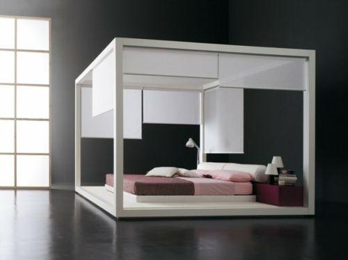 minimalistisch einrichtung schlafzimmer matratze bettwäsche rosa