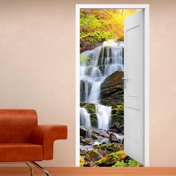 40 best vinilos decorativos para puertas images on pinterest vinyls wall decals and toilet. Black Bedroom Furniture Sets. Home Design Ideas