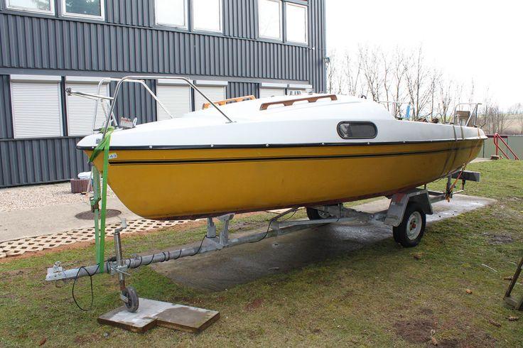 Klepper FAM Segelboot Boot Kajütboot Segelyacht Jollenkreuzer + Trailer TÜV NEU