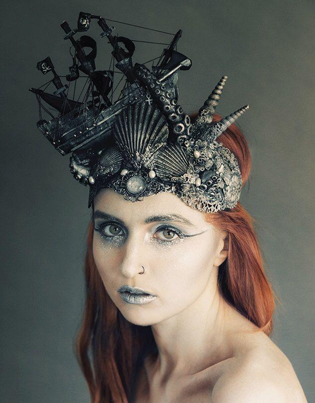 Stunning Kraken Tentacle Attack headdress by HysteriaMachine on Etsy https://www.etsy.com/listing/198853319/stunning-kraken-tentacle-attack
