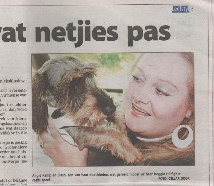 """Slash our """"gardener"""" making headlines with the human owner of Doggie Hillfigher"""