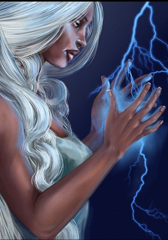 Ororo and her lightning  More X-Men @ http://groups.yahoo.com/group/Dawn_and_X_Women & http://groups.google.com/group/Comics-Strips & http://groups.yahoo.com/group/ComicsStrips ~Inge~ @ http://www.facebook.com/ComicsFantasy & http://www.facebook.com/groups/ArtandStuff