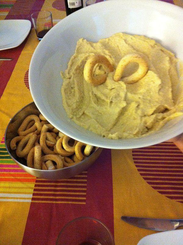 Hummus Receta de Maria: garbanzos