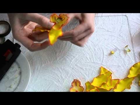 сборка цветка орхидеи - YouTube