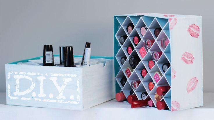DIY Makeup Aufbewahrung - Lippenstift Box - Deko - in etwas größer für die Küche