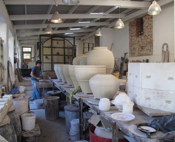 Long view of a busy studio 2011