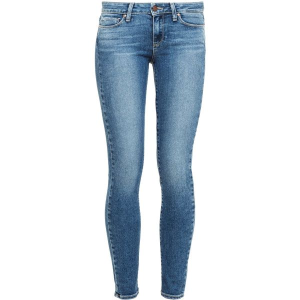 PAIGE DENIM Verdugo Ultra Skinny Jeans ($380) ❤ liked on Polyvore featuring jeans, pants, skinny jeans, mid-rise jeans, faded skinny jeans, stretch jeans and light wash jeans