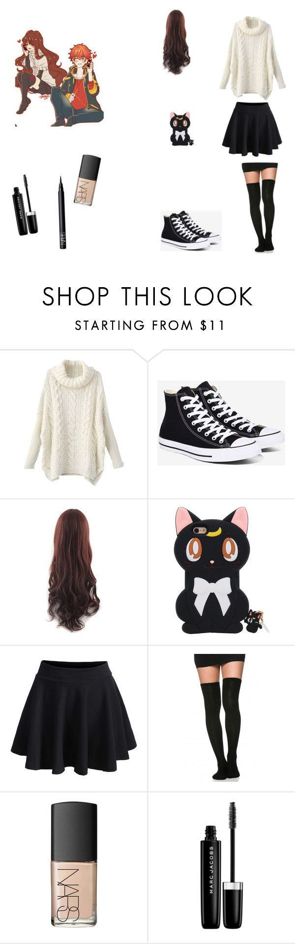 """MC (Mystic Messenger)"" by raven1wish on Polyvore featuring Converse, WithChic, NARS Cosmetics and Marc Jacobs"