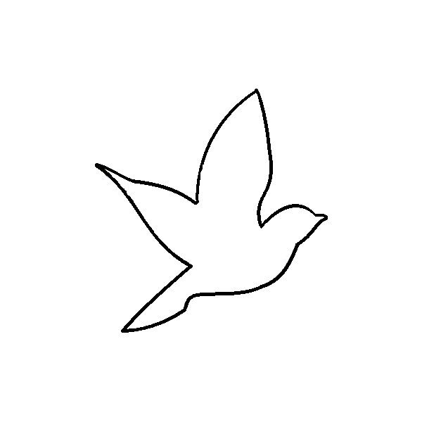 bird outline for nursery .. flying  ....aerie bird outline by elena. DO NOT EDIT or re-upload. ❤ liked on Polyvore
