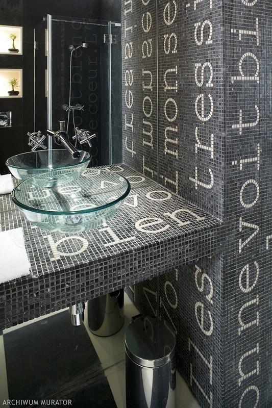 bathroom mosaic guest living room