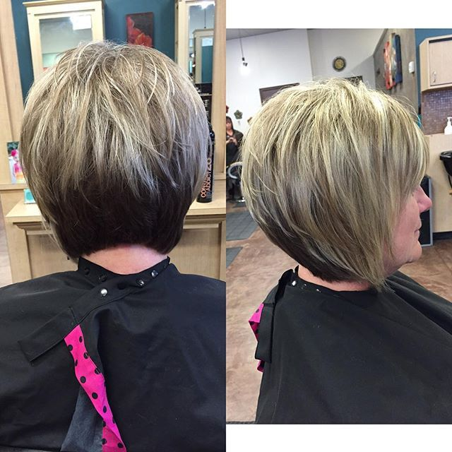 Short Stacked Bob Haircuts for women over 50                                                                                                                                                                                 More