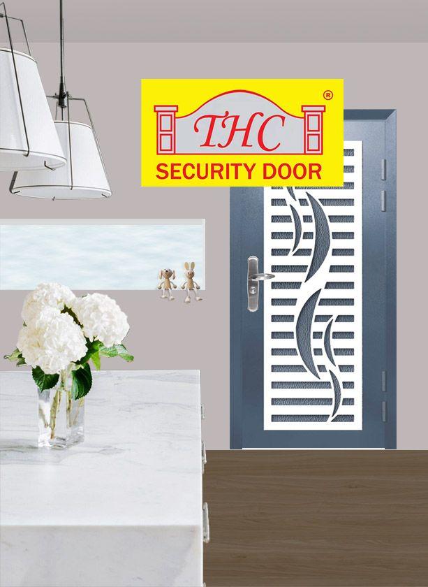 3 5 Feet X 7 Feet Elegant Durable Home Safety Door Over 90 Grille Design New Tech Digital Lock In 2020 Security Door Stainless Steel Doors Metal Door