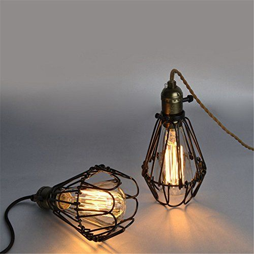 Retro Chandeliers Personality Innovative Style Led Small Metal Cages Minimalist American Rural Study Living Room