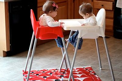 how to make a high chair mat | The Sleepy Time GalThe Sleepy Time Gal