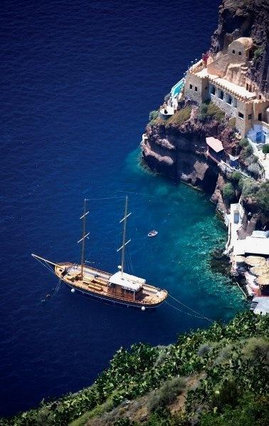 """Ormos"" - Fira Old Port, Santorini, Greece"