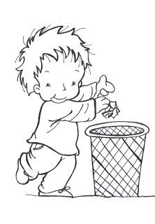 les papiers à la poubelle